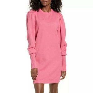 WAYF X Influencers Puff Sleeve Sweater Dress
